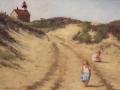 Joann Ballinger, <i>A Long Walk</i>, pastel,$1,800