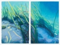 Laura  Barr	, <i>	Sound 1 + 2 Diptych	</i>, 	oil pastel	,	$2,500