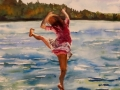 JoAnna Chapin	, <i>	Dock Dance	</i>, 	watercolor	,	$650