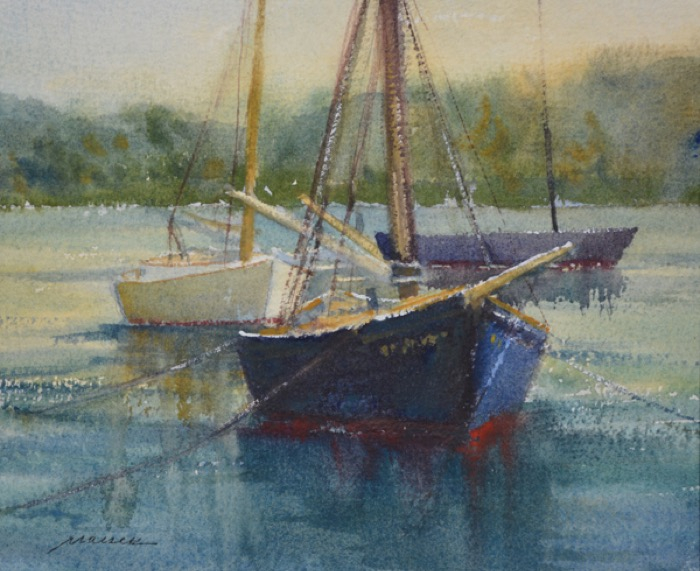 MaiserDawn_Greets_the_Regina_M_watercolor