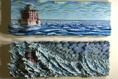 Collins_Robin_The-New-London-Ledge-Lighthouse_Marble-and-Acrylic_21x31x4_3000