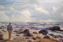Miceli_Lisa_MansionBeachBlockIsland_watercolor_14x21_895