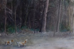 MelloLawrence_BellaHotontheTrail_watercolor4800_22_5x17
