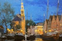 28.-BikbovZufar_Ships-at-Night.Hoorn-Holland_oil_18x21_NFS
