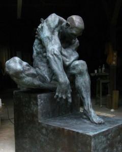 Don Gale Three Brain Man Sculpture 2012