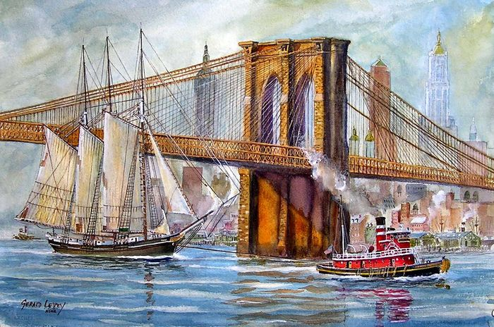 Gerald Levey, Gerald Levey, East River Tow - 1920