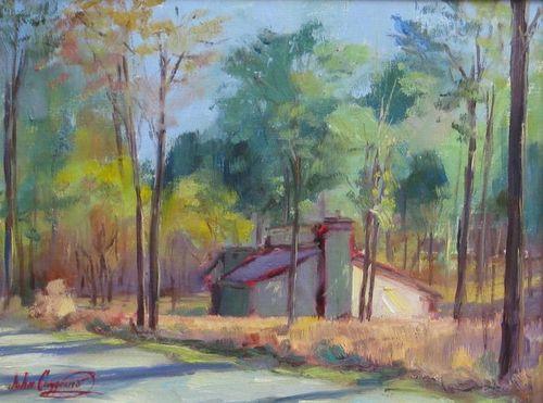 John Caggiano, Roadside House, oil