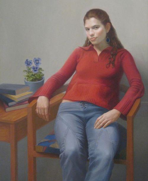 Jeanne Ciravolo, Emma, Spring, Oil, 46 x 36
