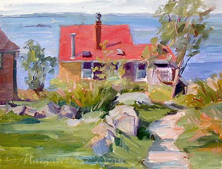 Margaret B. Dean, Afternoon Breeze, Monhegan, Oil