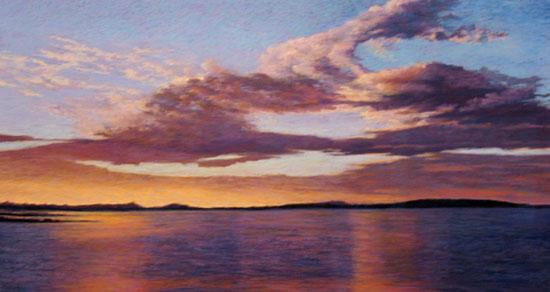 Donna Martell, Sunset, Pastel
