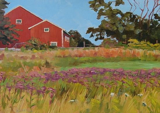 Bernie McTigue, Field of Joe Pye Weed, Oil