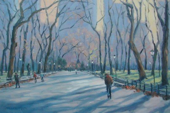 Kim Muller-Thym, Central Park, Oil, 16 x 20