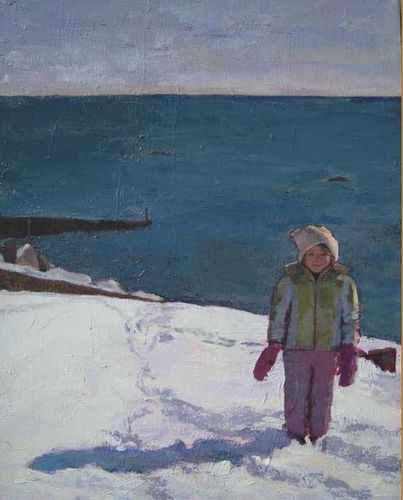 Kimberly Ruggiero, Pink Mittens, Oil, 16 x 20 in.