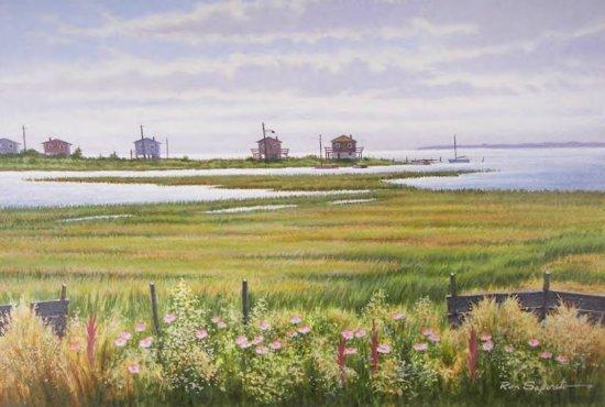 Ron Saporito, Summer Marshland, Acrylic