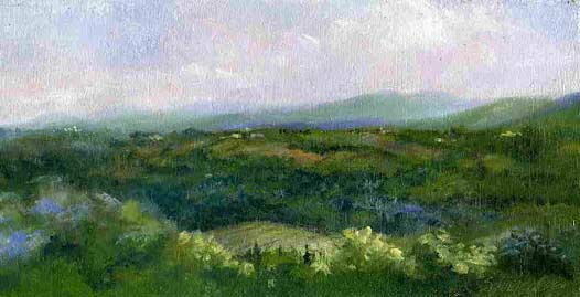 Nancy Schroeder, Tuscan Mist, Oil, 6 x 12
