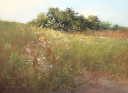 Katherine Simmons, Shoreline Meadow, Oil, 9 x 12