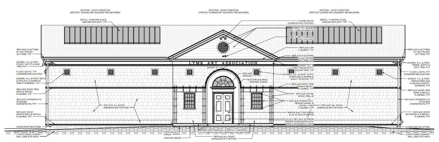 Drawing of building from conditions assessment