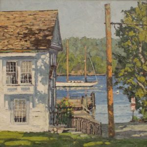 Jim Laurino, CT River, Essex Boat Launch, oil