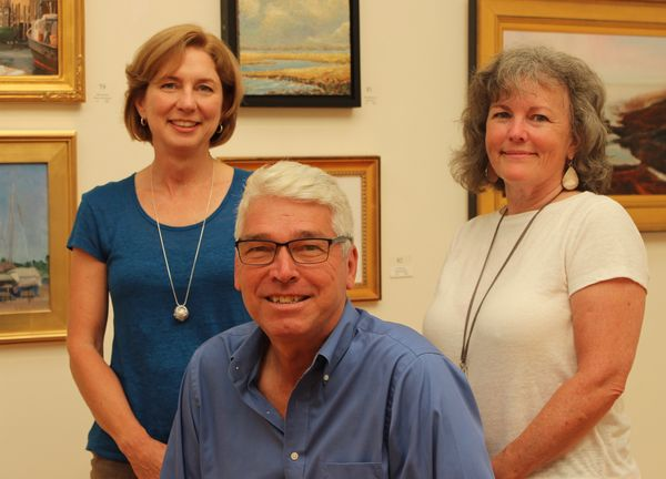 From left to right: Laurie Pavlos, Business Manager; Gary Parrington, Director of Development; and Jocelyn Zallinger, Gallery Manager.