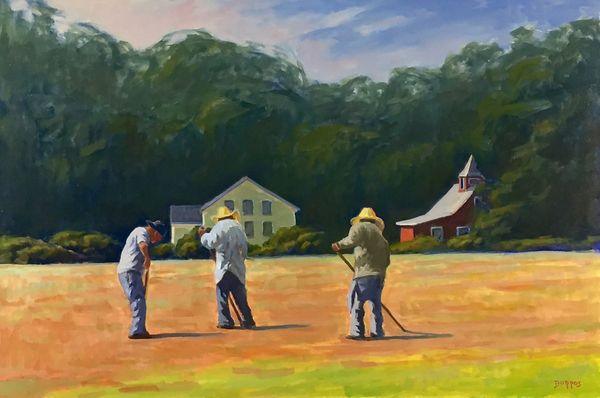 Ken Dorros, Working in the Fields, oil