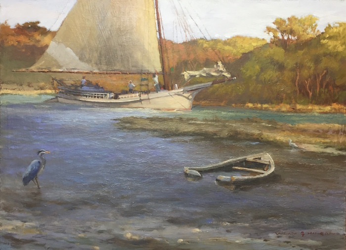 Bill Hanson, Skipjack, Hauling in the Main, oil