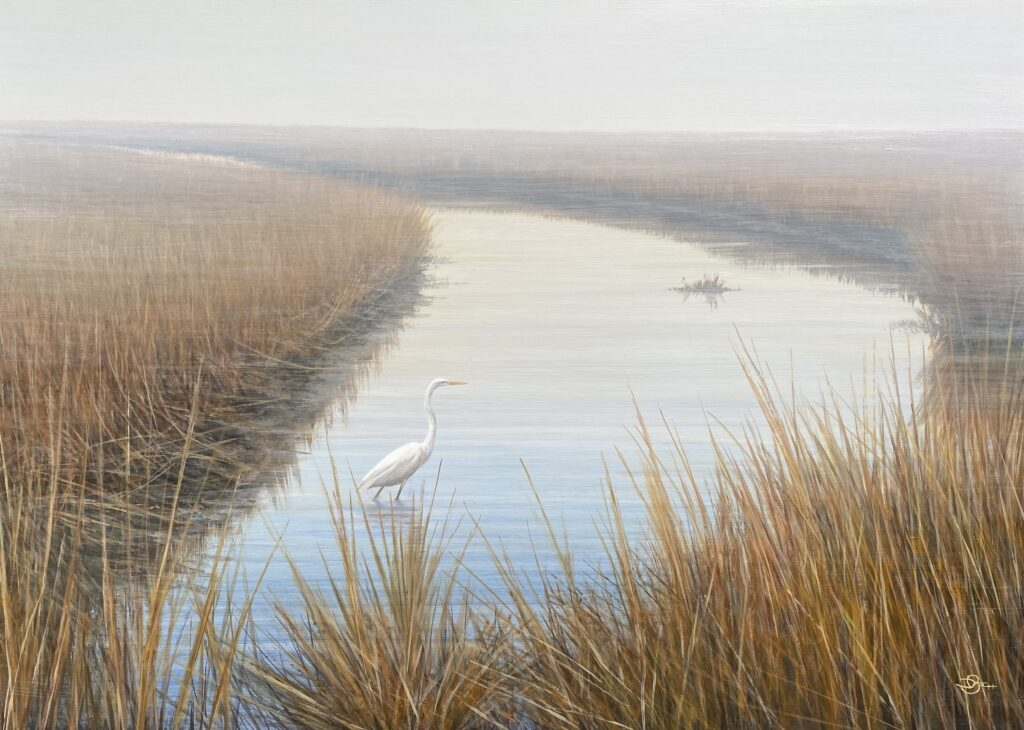 """Del-Bourree Bach, """"A Misty Moment"""", painting"""