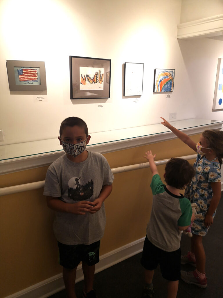 Young artists visiting his work